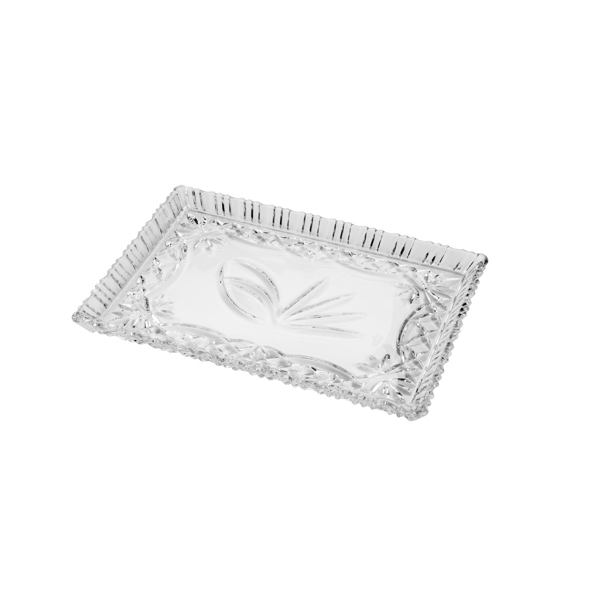 Travessa de Cristal Janine Transparente 29cm - Lyor