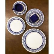 Aparelho de Jantar Donna Grécia de Cerâmica 16 Peças Azul - Biona