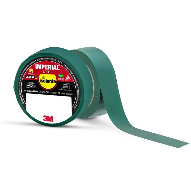 Fita Isolante Imperial Verde 18 mm x 10 m -3M