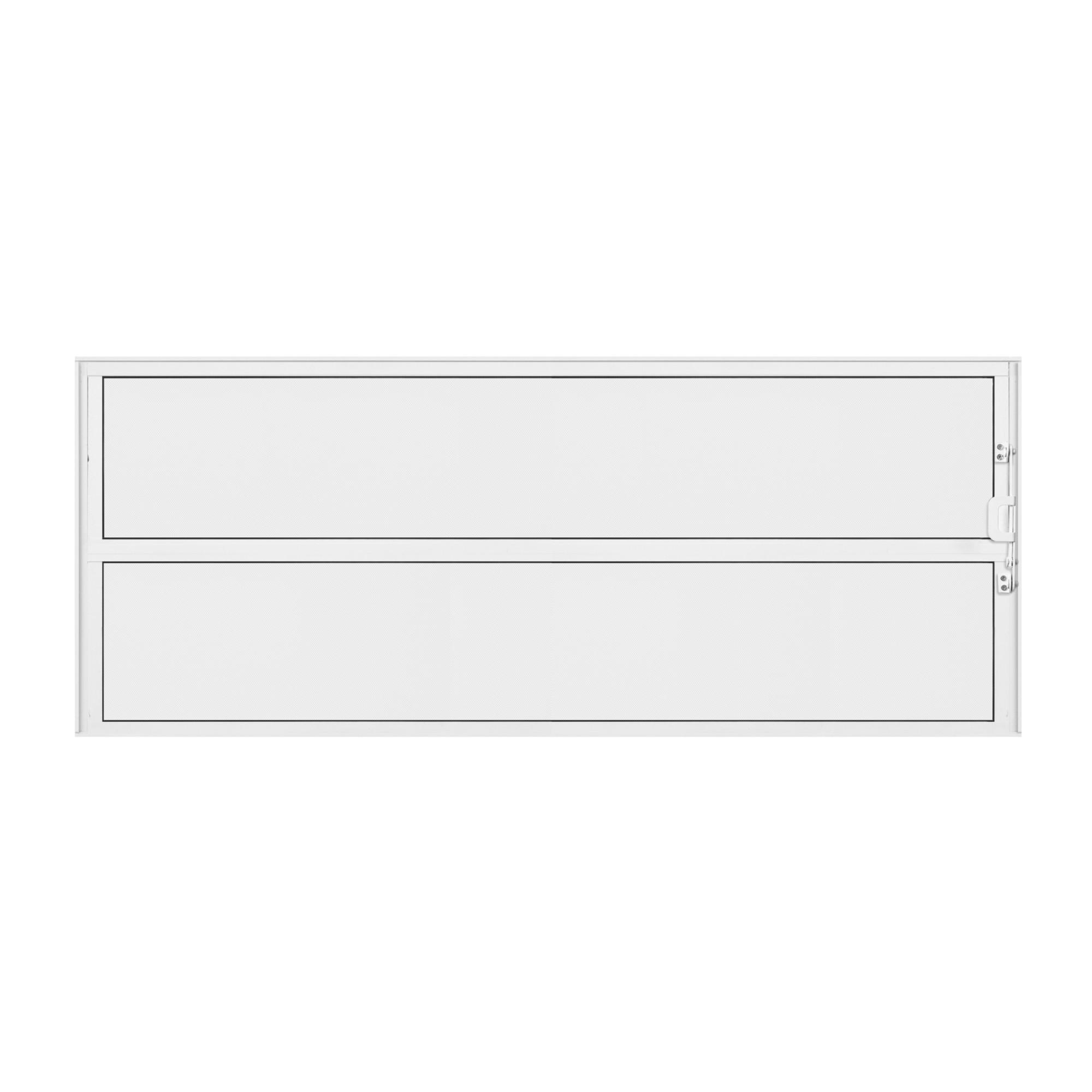 Basculante de Aluminio Branco 40x100 cm Metalflex Mini Boreal - Aluvid