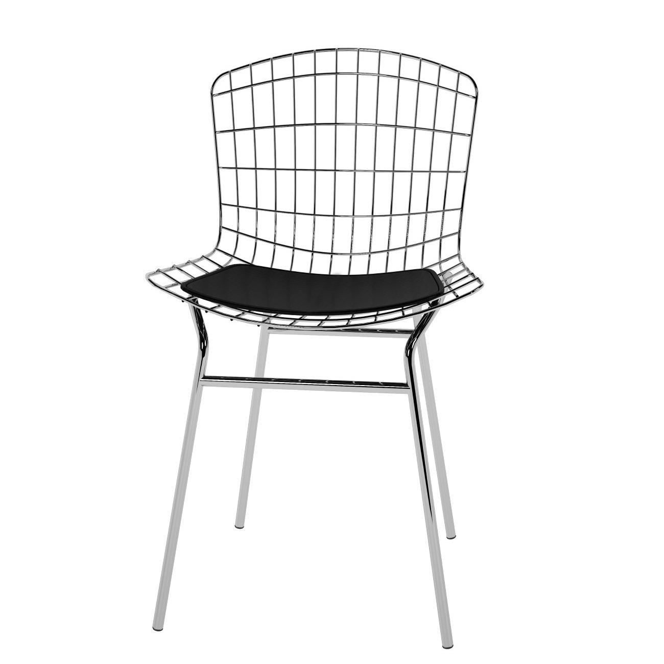 Cadeira Vinil Aco Carbono Preto PC220001 - Pozza