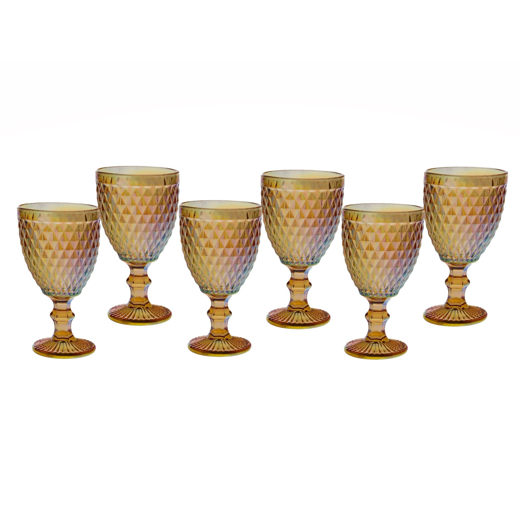 Jogo de Tacas de Vidro para Agua 6 Pecas 300ml TCVI063 - Casa Ambiente 1