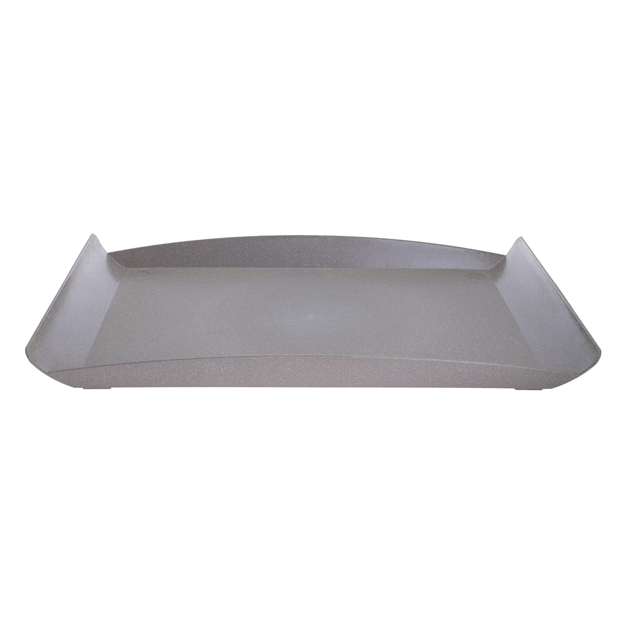 Bandeja Retangular de Plastico 30 x 43 cm Cinza 7123 - Evo