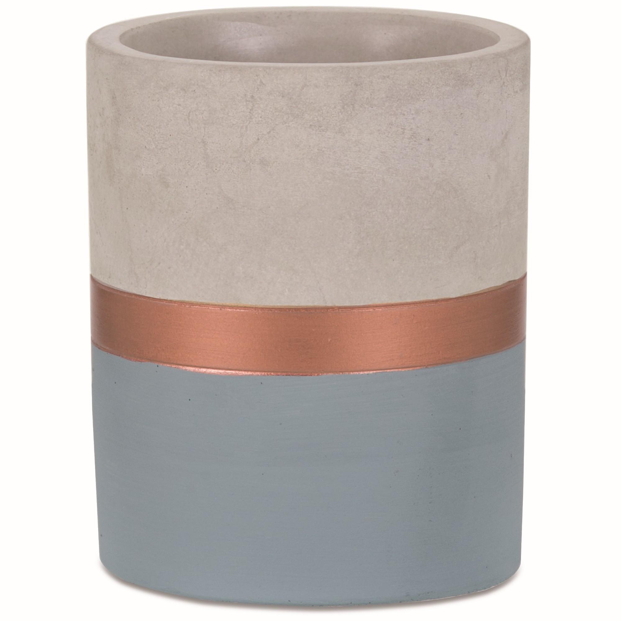 Vaso Decorativo Cimento 9cm Redondo 7707 - Mart