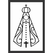 Quadro Decorativo 33x23 cm Nossa Senhora 69223 - Kapos