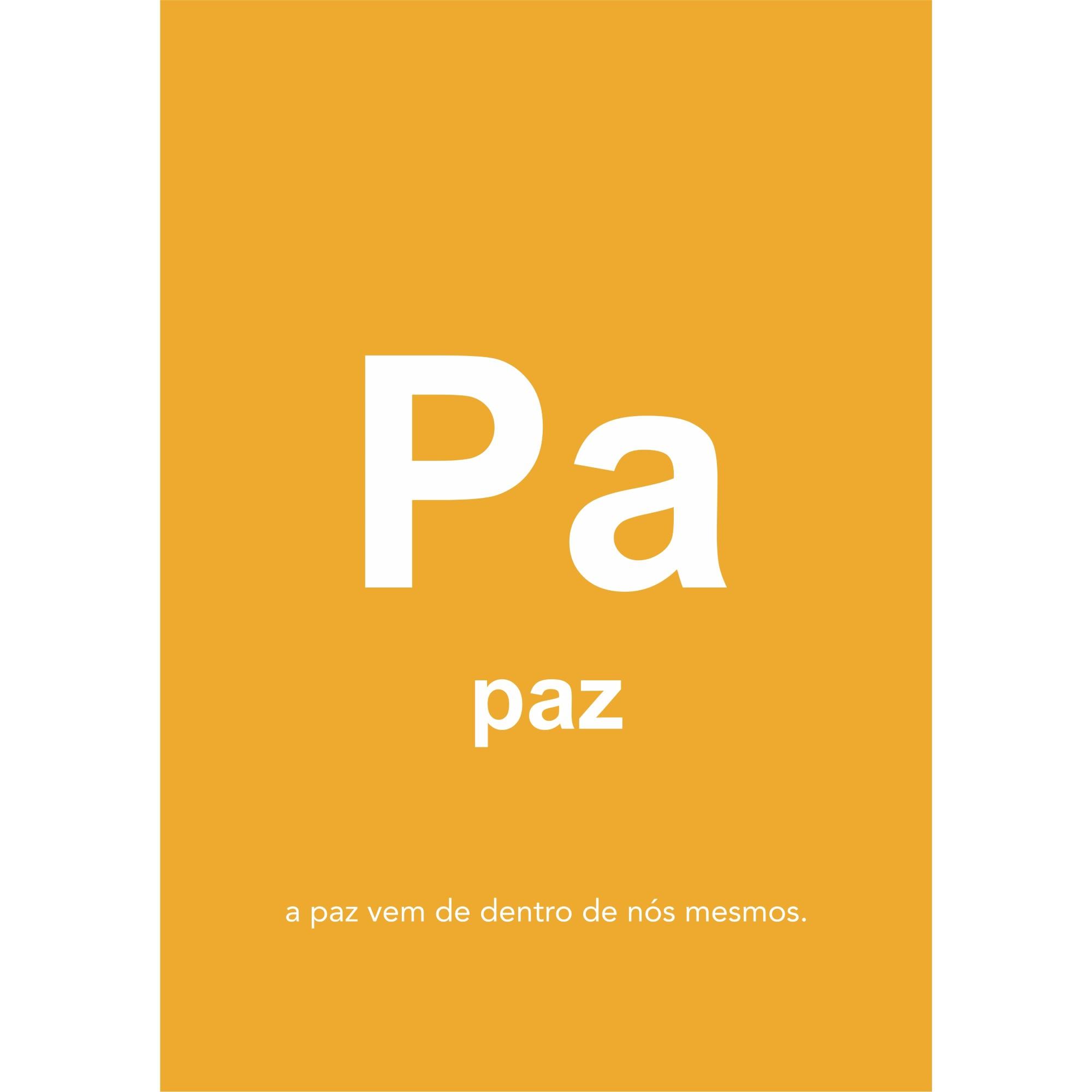 Placa Decorativa em MDF 20x30cm Paz Amarelo 69740 - Kapos