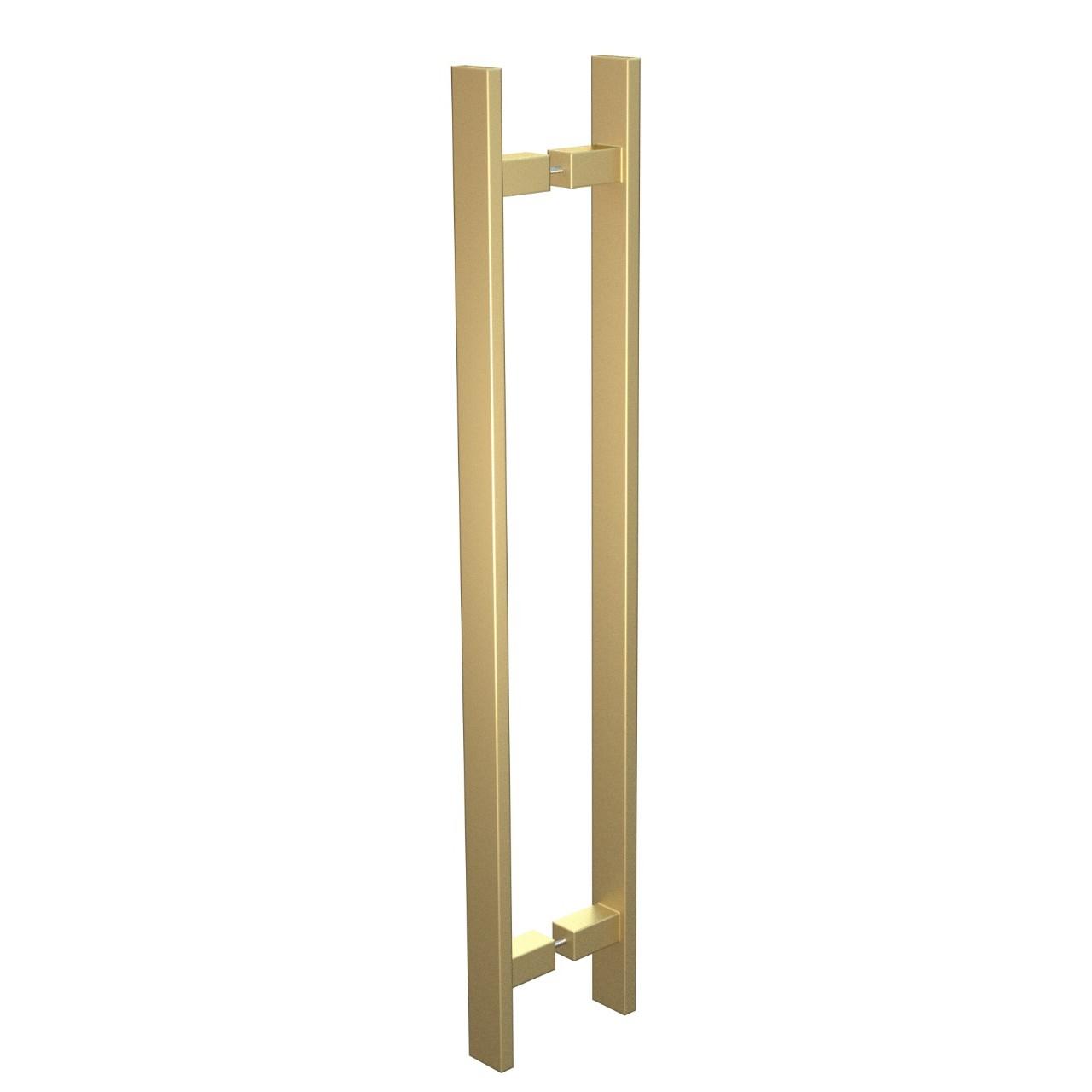 Puxador de Portas Sobrepor Aco Inox 40 cm 1 par Trio Gold - Acobrasil