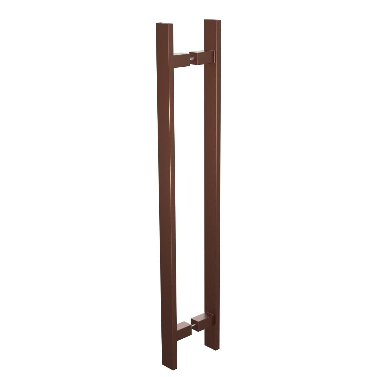 Puxador de Portas Sobrepor Aco Inox 40 cm 1 par Trio Bronze - Acobrasil
