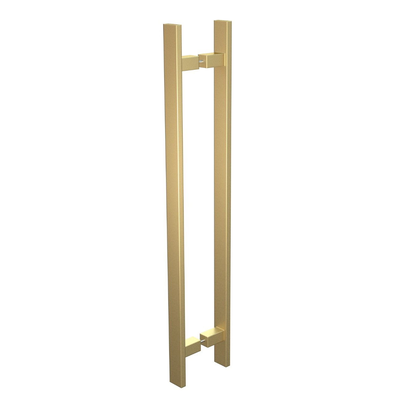 Puxador de Portas Sobrepor Aco Inox 60cm 1 par Trio Gold - Acobrasil