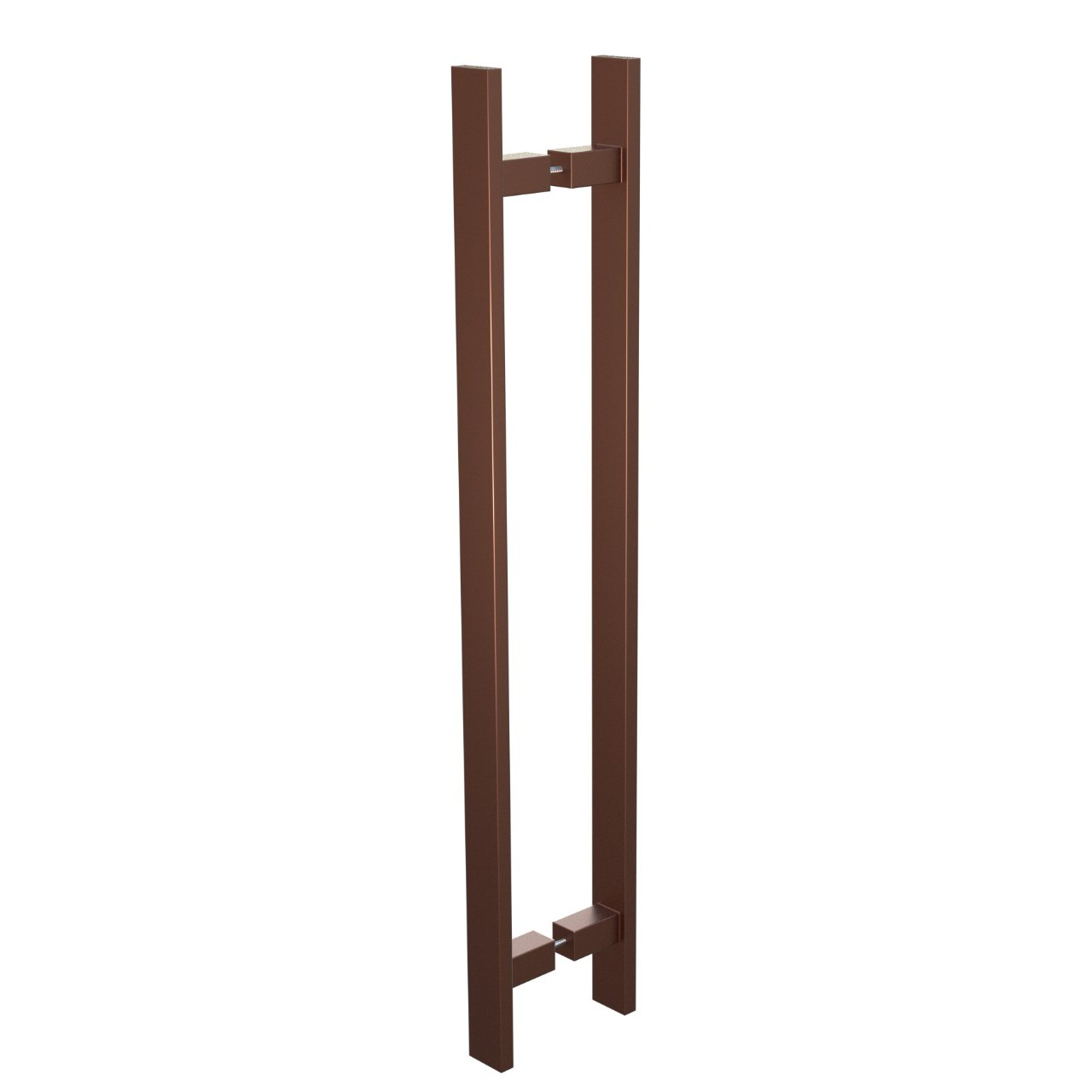 Puxador de Portas Sobrepor Aco Inox 60cm 1 par Trio Bronze - Acobrasil