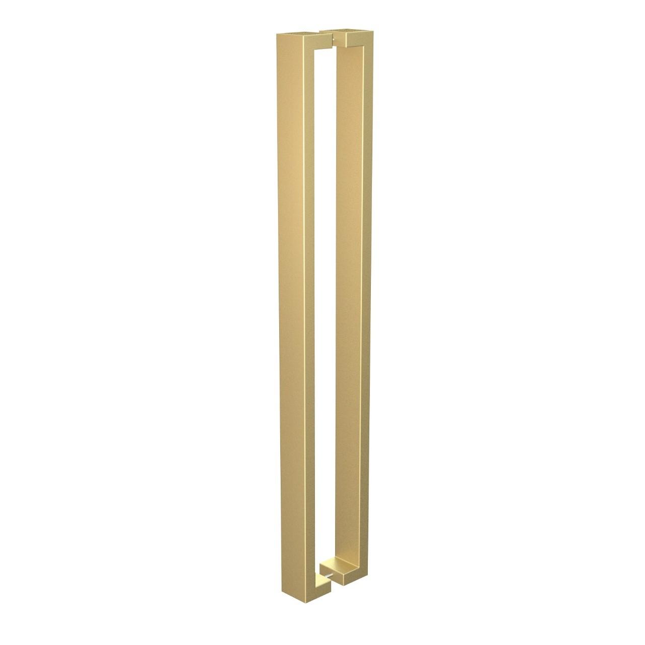 Puxador de Portas Sobrepor Aco Inox 815cm 1 par Leblon Gold - Acobrasil