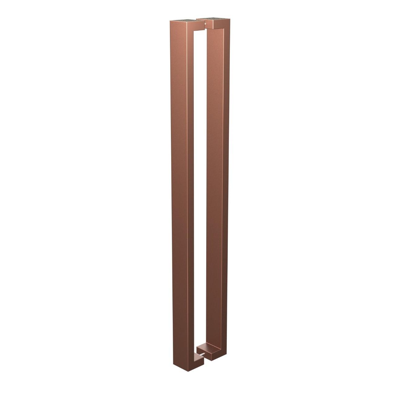 Puxador de Portas Sobrepor Aco Inox 815 cm 1 par Leblon Bronze - Acobrasil