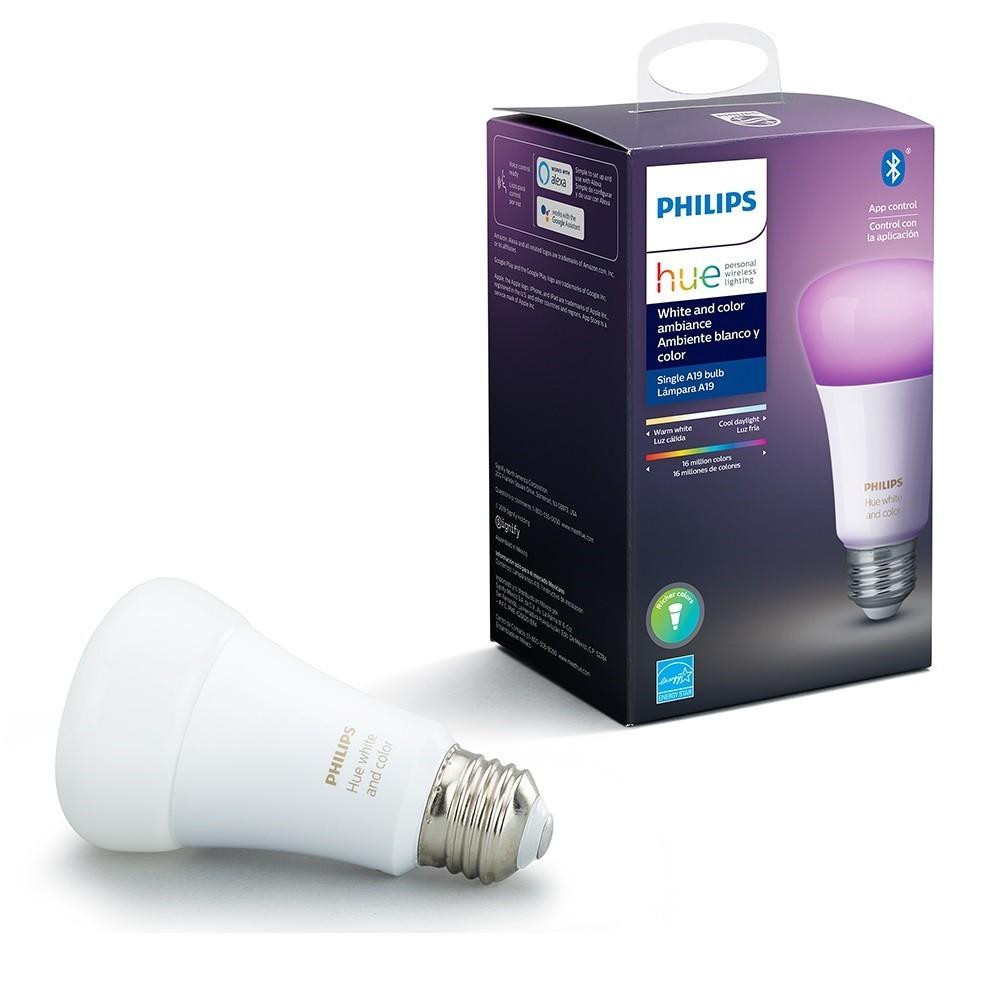 Lampada LED Bulbo 9W HUE RGB E27 M220 - Philips