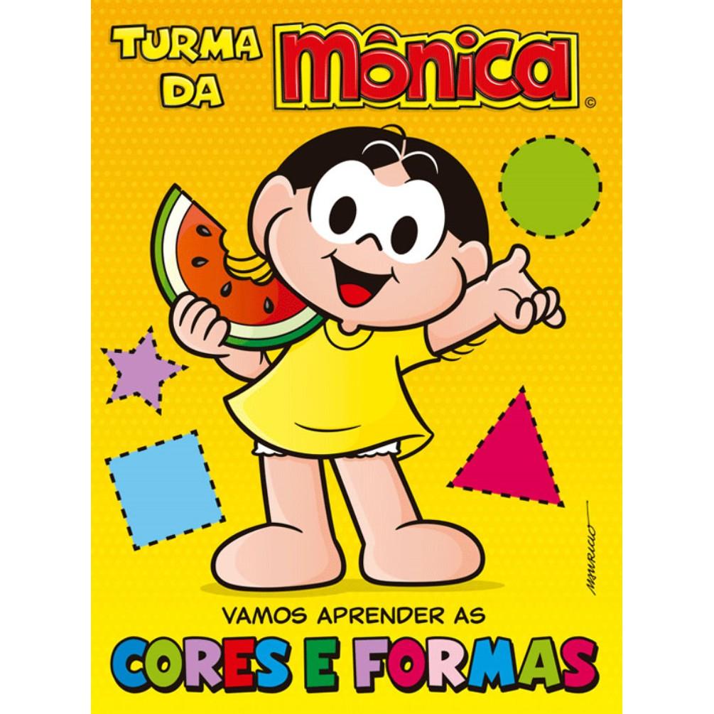 Livro Turma da Monica Vamos Aprender as Cores e Formas - Ciranda Cultural