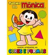 Livro Turma da Mônica Vamos Aprender as Cores e Formas - Ciranda Cultural