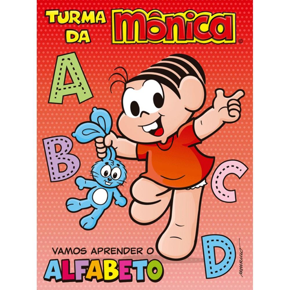 Livro Turma da Monica Vamos Aprender o Alfabeto - Ciranda Cultural