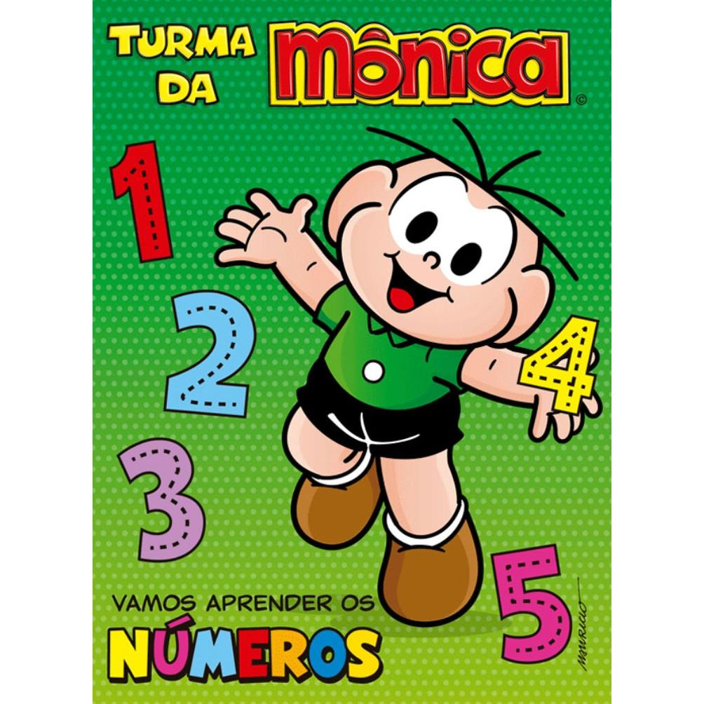 Livro Turma da Monica Aprendendo os Numeros