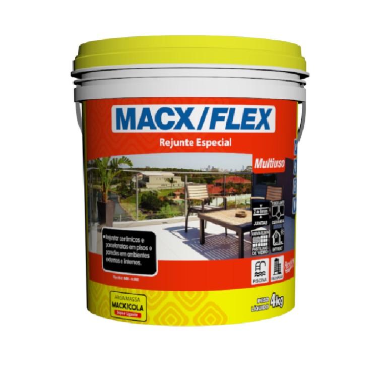 Rejunte Flexivel Macx Multiuso Grafite Balde4kg - MacXCola