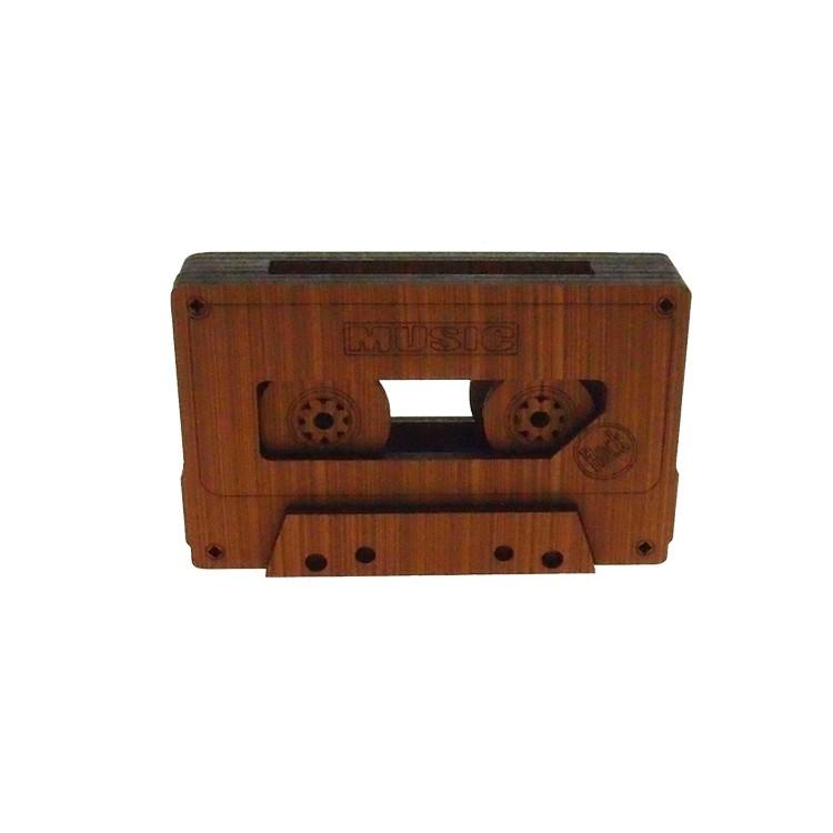 Enfeite Fita cassete 10cm em MDF Marrom Claro - Az Design