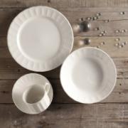 Aparelho de Jantar de Cerâmica 16 Peças Caribe Branco - Martiplast