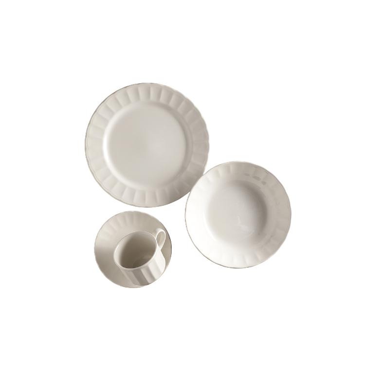 Aparelho de Jantar de Ceramica 16 Pecas Caribe Branco - Yoi