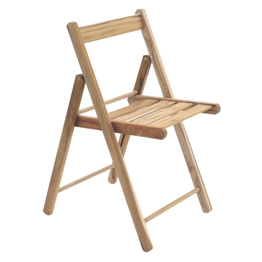 Cadeira de Madeira Lille Dobravel Marrom Claro - Tramontina