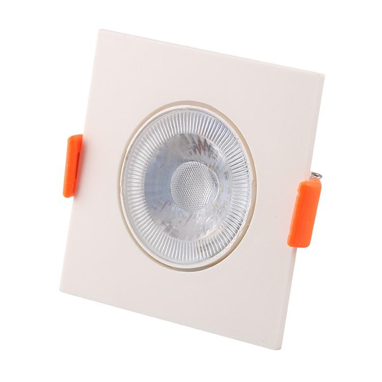 Spot LED Plastico Quadrado 3W Luz Branca - Ecoline