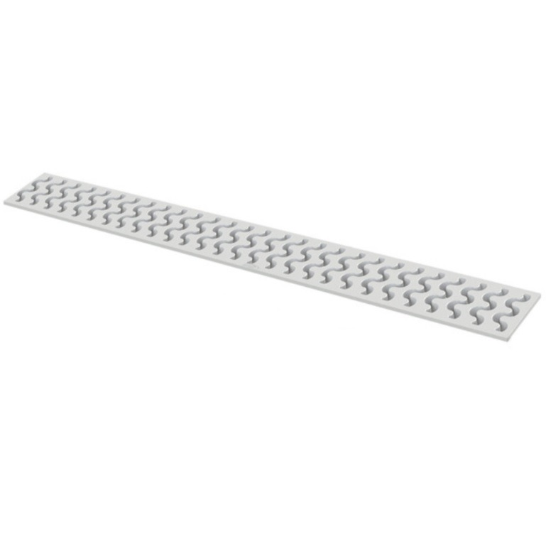 Grelha Ralo Linear Amanco 49x45cm em PVC 45 C - Branco