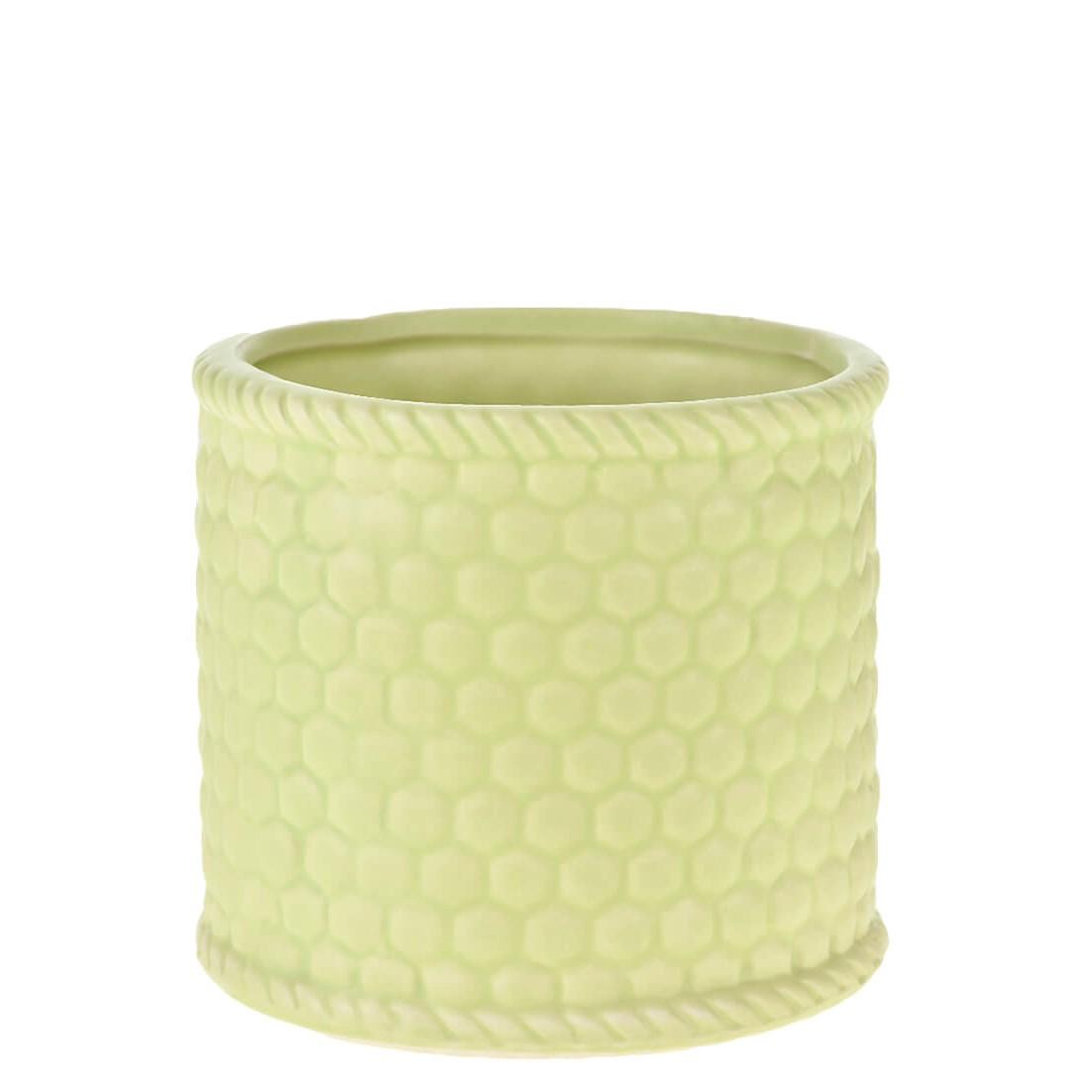 Vaso Decorativo Ceramica 9cm Redondo Verde