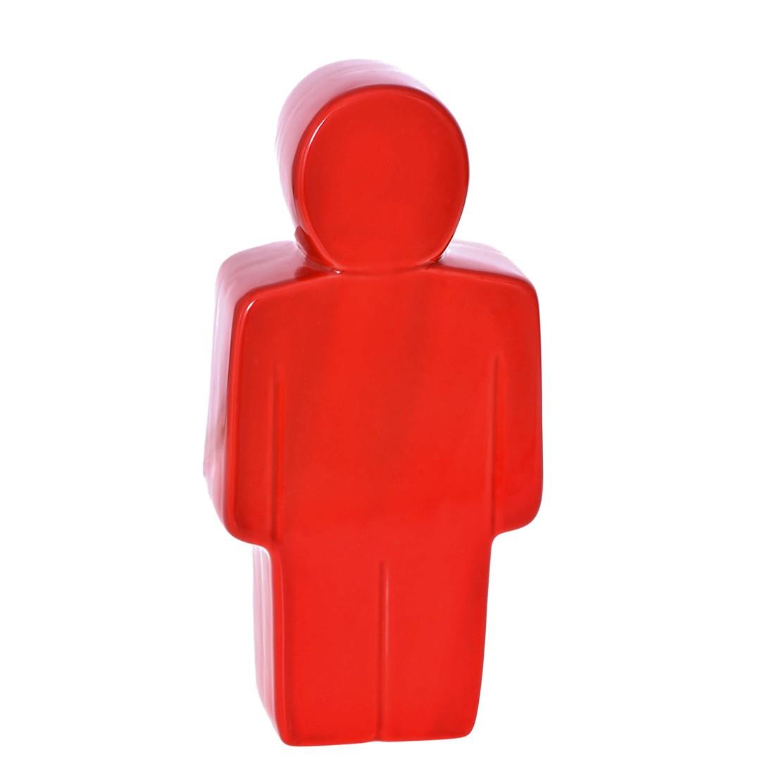 Enfeite Homem 23cm de Ceramica Vermelho 37645-009