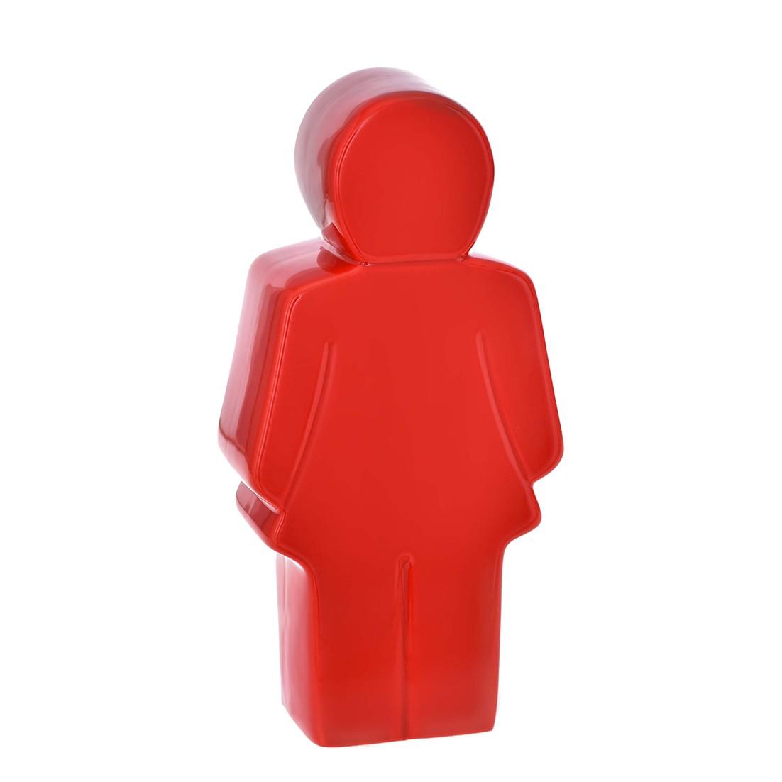 Enfeite Mulher 23cm de Ceramica Vermelho 37646-009