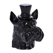 Enfeite Cachorro 18cm de Cerâmica Preto 37658-100