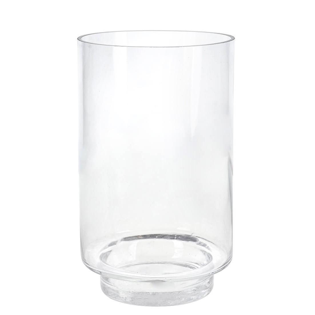 Vaso Decorativo de Vidro 25cm Tubo Transparente