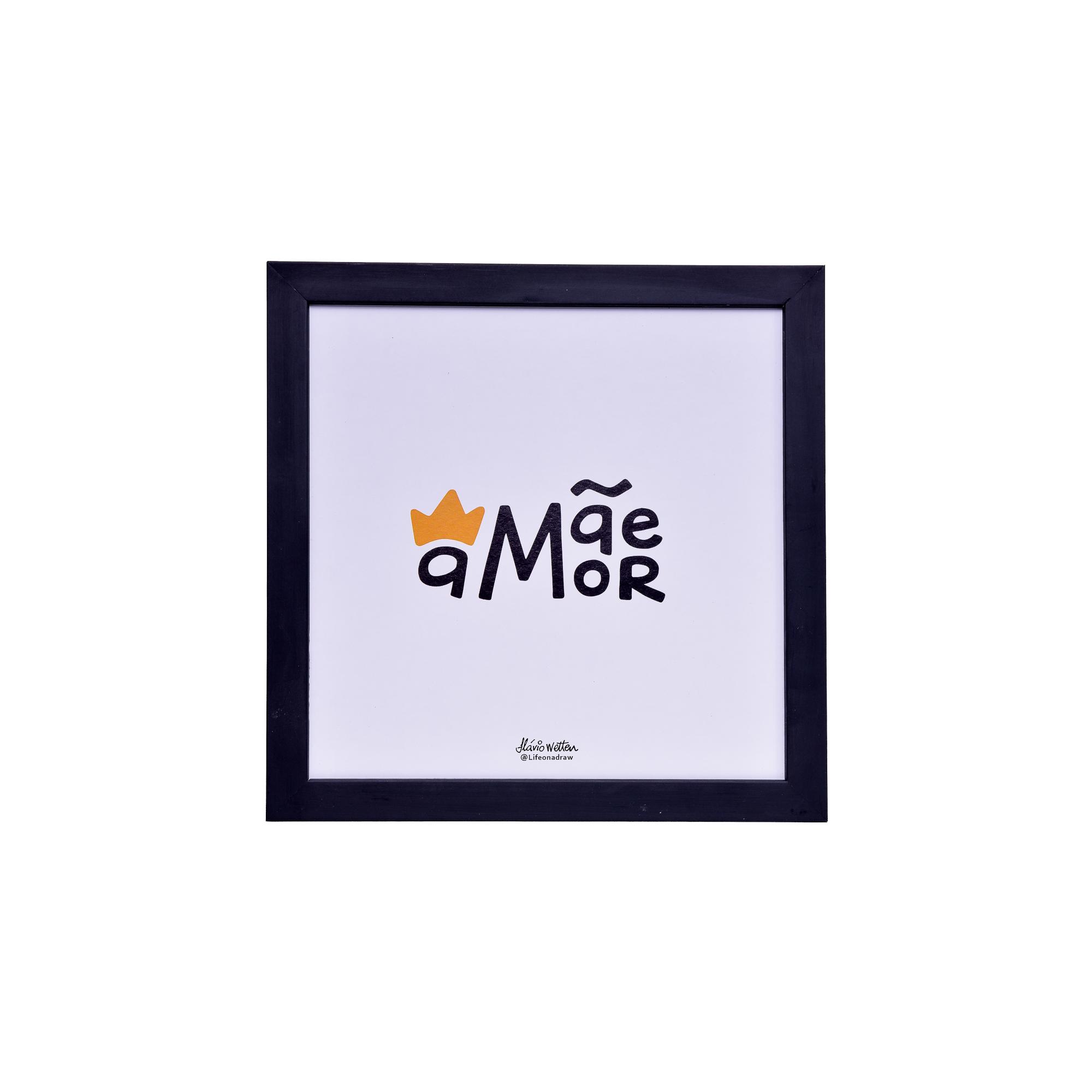 Quadro Decorativo 25x25 cm Mae 4024 - Art Frame