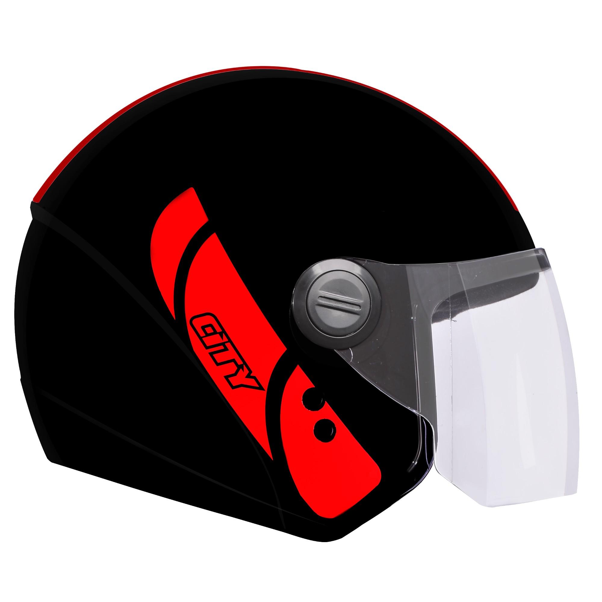 Capacete para Motociclista Aberto M M Ebf Capacetes - PT 58