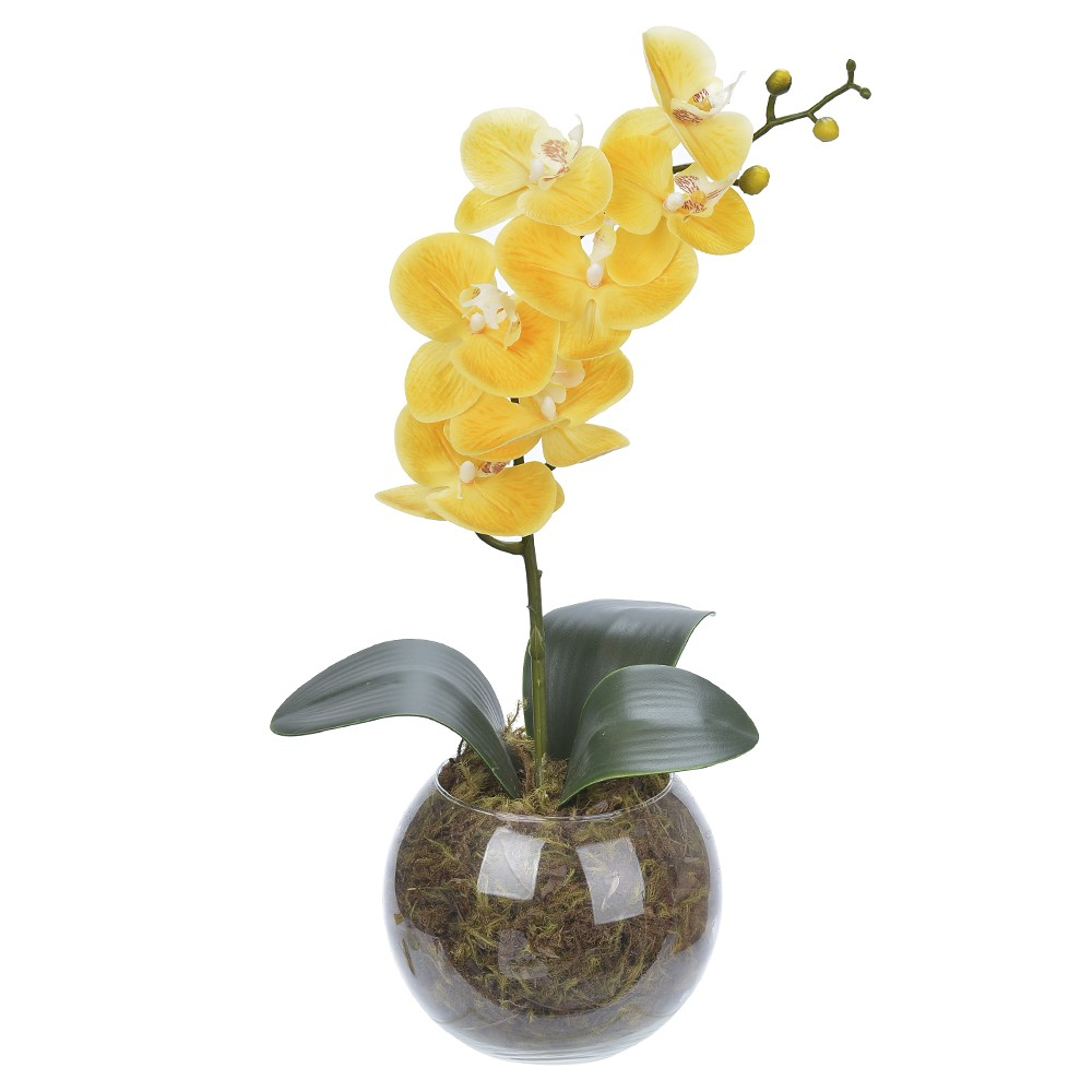 Arranjo Decorativo 45cm Orquidea Amarela 60679 - Dea