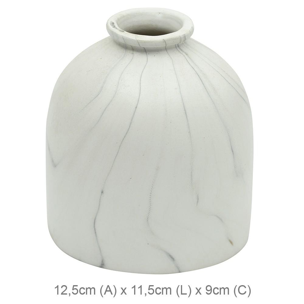 Vaso Decorativo Ceramica 125cm Redondo Branco 39222001 - Dea
