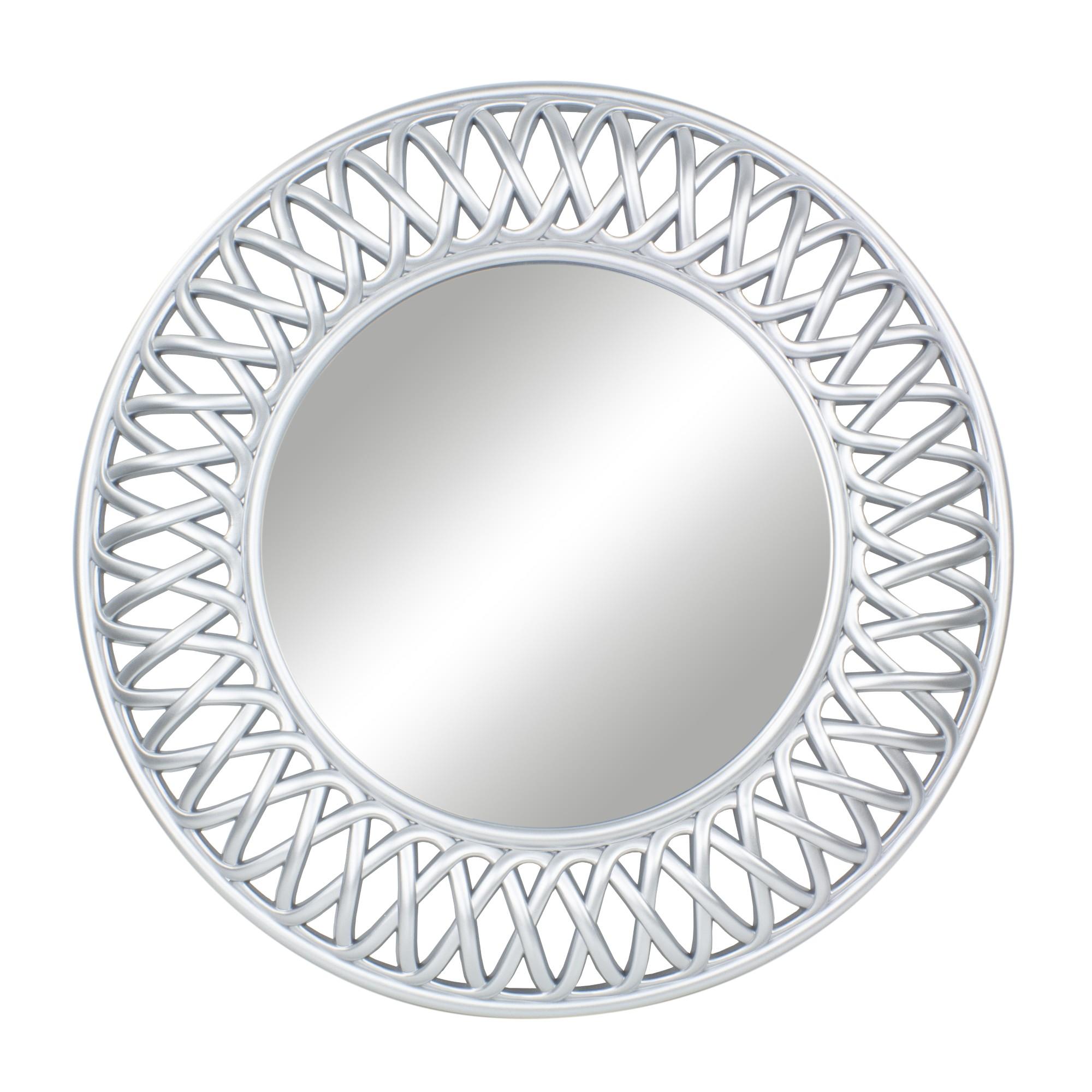 Espelho Decorativo Redondo 495 x 495 cm Prata - Jolie