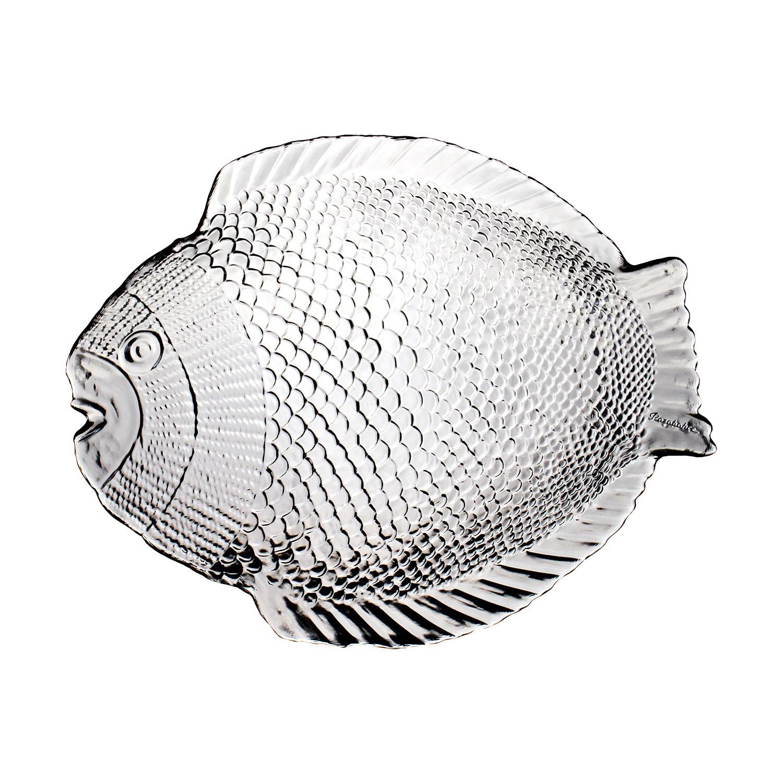 Petisqueira de Vidro 25cm Peixe Incolor 4775 - Mypa