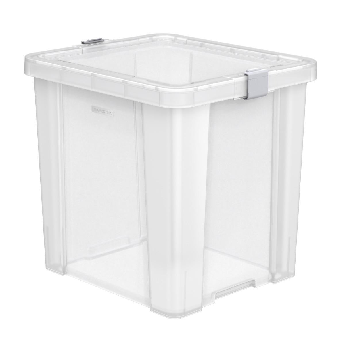 Caixa Organizadora Tramontina Retangular 420L Transparente - 92552711
