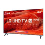 "Smart TV LED 43"" LG Eletro 4K/Ultra HD 43UM7510 - Wi-Fi 4 HDMI 2 USB"