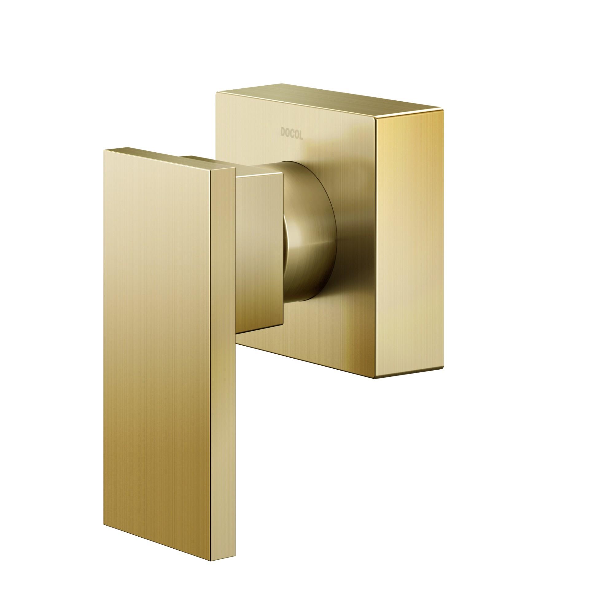 Acabamento para Registro de Gaveta e Pressao Monocomando Cromado New Edge Ouro Biniquel 12 34 e 1 Manual - Docol