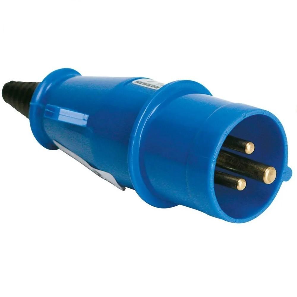 Plug 2PT 32A 200250V Newkon Azul - Steck