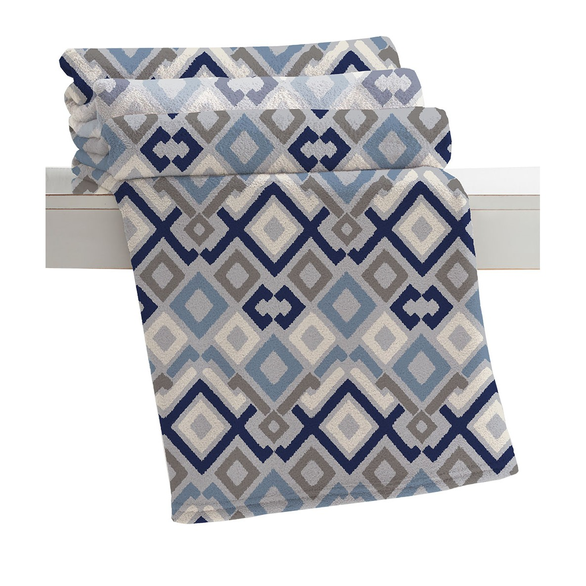 Manta Home Design Casal 180 x 220cm Microfibra Estampada - Corttex 007