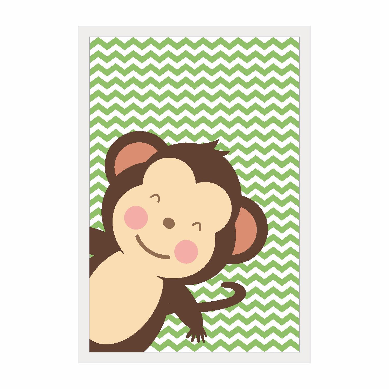 Quadro Decorativo 22x32 cm Macaco - Kapos