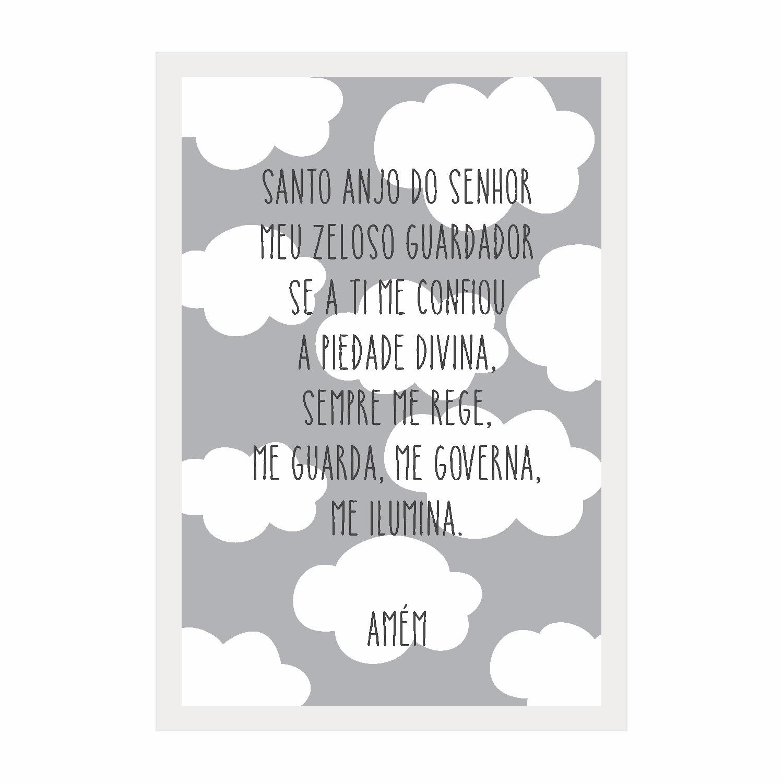 Quadro Decorativo 22x32 cm Santo Anjo 69953 - Kapos