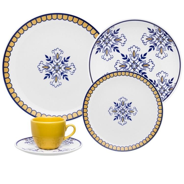 Aparelho de Jantar Lisboa de Porcelana 20 Pecas - Oxford