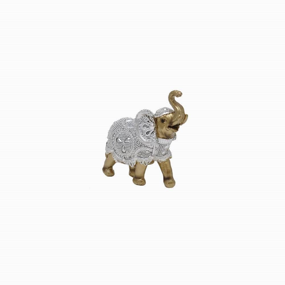 Enfeite Elefante 9cm de Resina Prata 192021 - Bras Continental