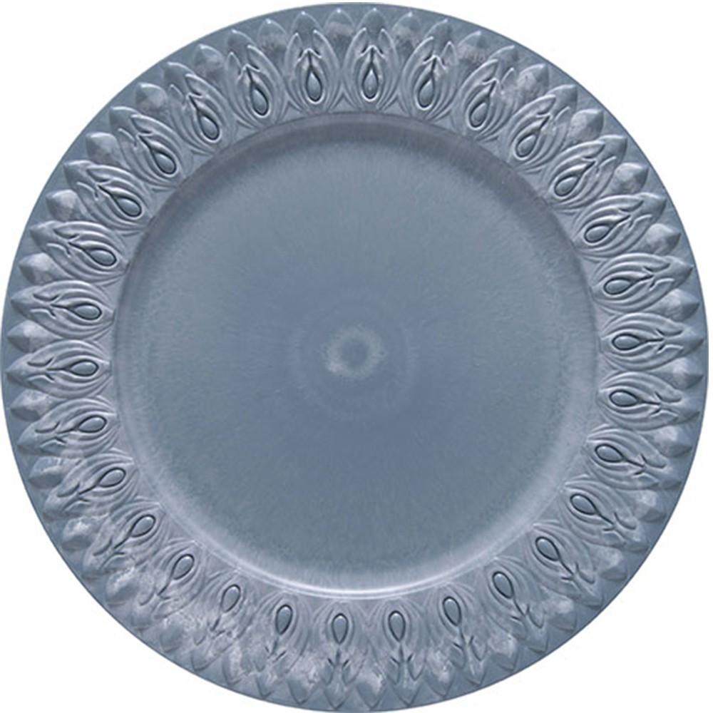 Sousplat Redondo Plastico 36cm Azul - Jonico