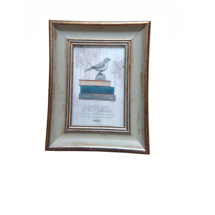 Porta Retrato Unifoto 10x15 cm Azul com Dourado PR052 - Casambiente